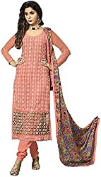 Zohra Vol 2 Women's Georgette Unstitched Dress Material(54001, Pink)