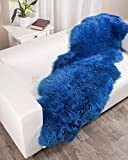 Fiord Blue Sheepskin Rug (Double - 2x6ft)