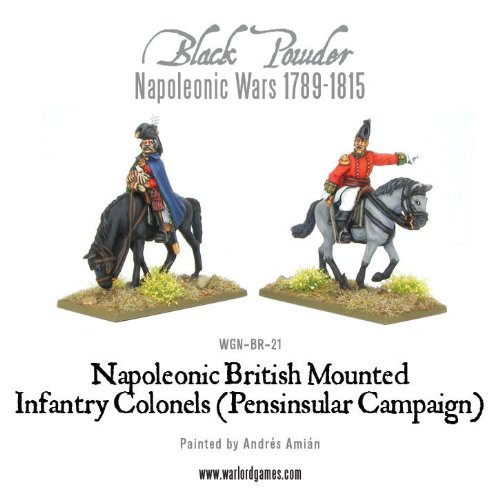 Warlord Games Black Powder Mounted Napoleonic British Infantry Colonels Cavalry