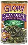 Glory Foods Seasoned Collard Greens with Smoked Turkey, 14.5-Ounce (Pack of 12)