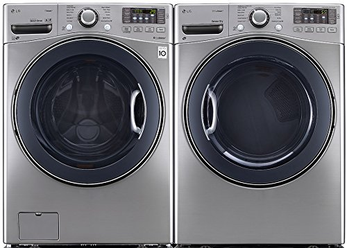 POWER PAIR SPECIAL-LG TURBO SERIES ULTRA CAPACITY LAUNDRY SYSTEM WITH STEAM TECHNOLOGY, AND STAINLESS DRUMS (WM3570HVA_DLEX3570V) *GRAPHITE STEEL COLOR* (Lg Washer Wm3570hva compare prices)