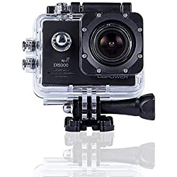 DBPower EX5000 14MP FHD Sports Action Camera with 2 Batteries and Free Accessories