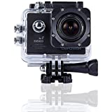 DBPOWER Original EX5000 WIFI 14MP FHD Sports Action Camera waterproof with 2 Improved Batteries and free Accessories (Black)