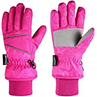 Fazitrip 3M Thinsulate Kid Snow Gloves (Pink)