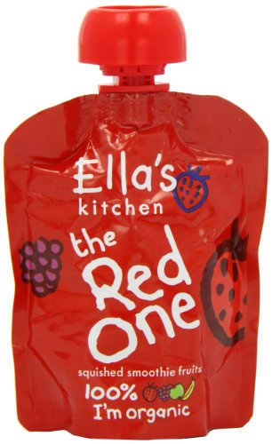 Ella's Kitchen The Red One Organic Squished Smoothie Fruits 90 g (Pack of 5)