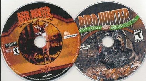 Lot 2 CD Deer Hunter 2003 & Bird Hunter 2003 Vista XP Hunter Hunt Computer game PC