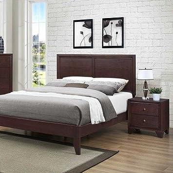 Homelegance Kari 2 Piece Platform Bedroom Set in Warm Brown Cherry