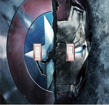 Got You Covered Captain America Civil War - United We Stand. Divided We Fall Light Switch Cover or Outlet (2x Toggle, Option 2) (Got Marvel compare prices)