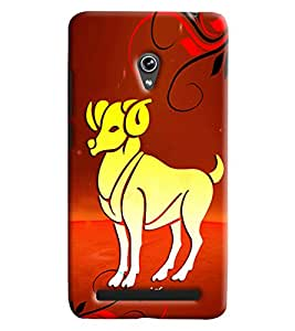 Clarks Sunsign Aries Hard Plastic Printed Back Cover/Case For Asus Zenfone 6