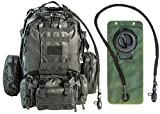 tactical backpack Monkey Paks Tactical Military Backpack Bundle with 2.5L Hydration Water Bladder and 3 Molle Bags