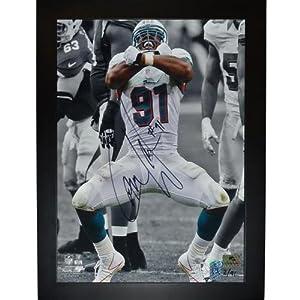 Cameron Wake Autographed Miami Dolphins (Spotlight Sack) 11x14 Mylar Framed Photo -... by PalmBeachAutographs.com