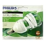 Philips Tornado 8W (45W) E14 CFL Spiral Energy Saver Bulbs (6 Pack)