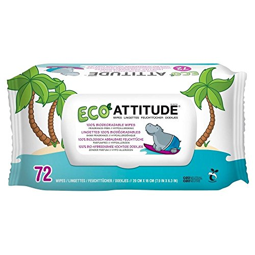 Attitude Compostable Baby Wipe Box (72)