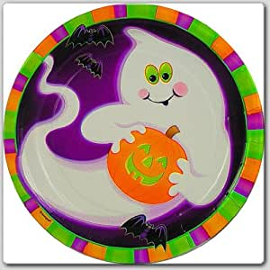 Ghoost and Pumpkin Dinner Plates