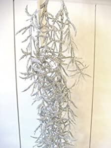 weihnachtsdeko zweig in silber 60cm glimmer optik. Black Bedroom Furniture Sets. Home Design Ideas