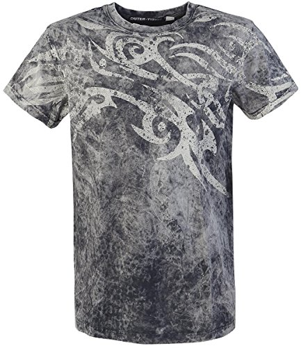 Outer Vision Rock Tattoo T-Shirt grigio XXL