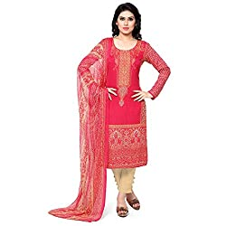 Vaamsi Printed Dress Material (Lawn1007_Red_Free Size)