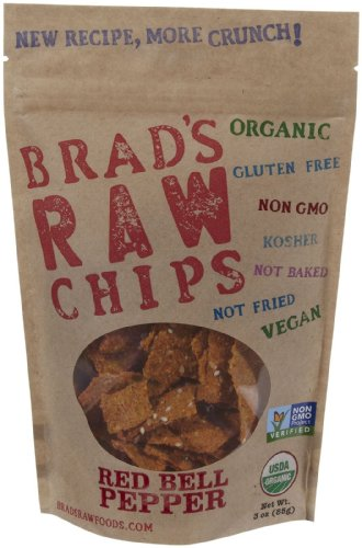 Brad's Organic Raw Chips, Red Bell Pepper, 3 Ounce (Dehydrated Crackers compare prices)