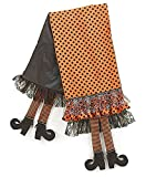 "Halloween 67"" Table Runner with Dangling Witch Legs"