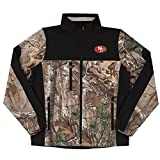 NFL San Francisco 49ers Hunter Colorblocked Softshell Jacket, Real Tree Camouflage, Medium