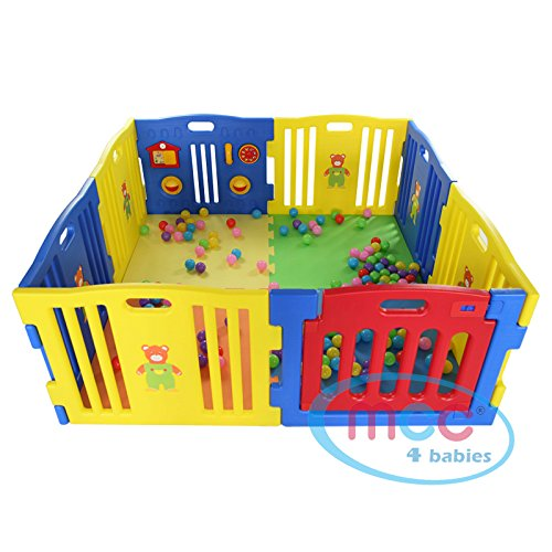 Plastic Baby Playpen With Activity Panel 8 Sides Mcc08d By Mcc
