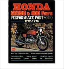 Honda CB 350 and 400 Fours, 1972-78 (Performance Portfolio) (Paperback
