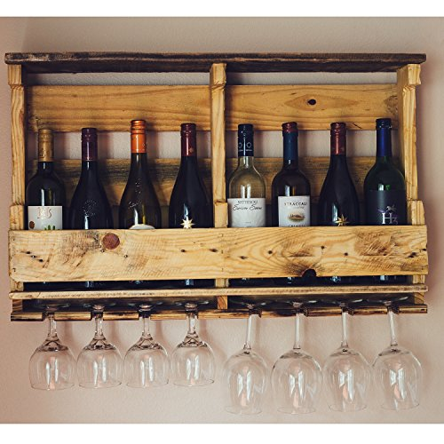 Pallet Wine Rack Wall Mounted Made From Rustic Reclaimed
