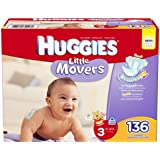 Huggies Little Movers Step 3 Giant Pack, 136 Count