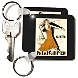 kc_179467 Florene - French Vintage - image of art deco couple dancing with French words - Key Chains
