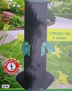 Borne prises de jardin exterieur etanche branchement - Prise electrique exterieur etanche ...