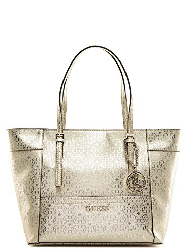 GUESS Delaney Small Classic Tote Gold