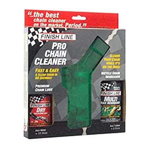 Finish Line Shop Quality Bicycle Chain Cleaner Kit with Lube and Degreaser