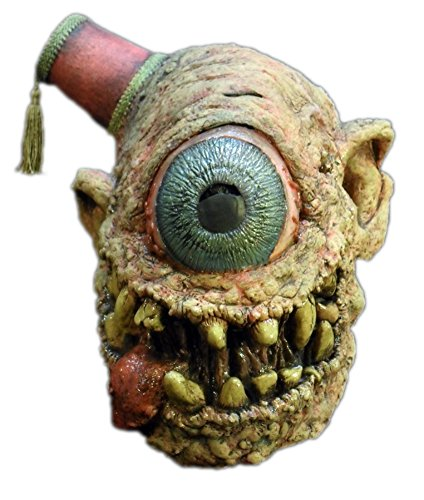 Cyclops Creepy One Eyed Alien Monster Latex Adult Halloween Costume Mask