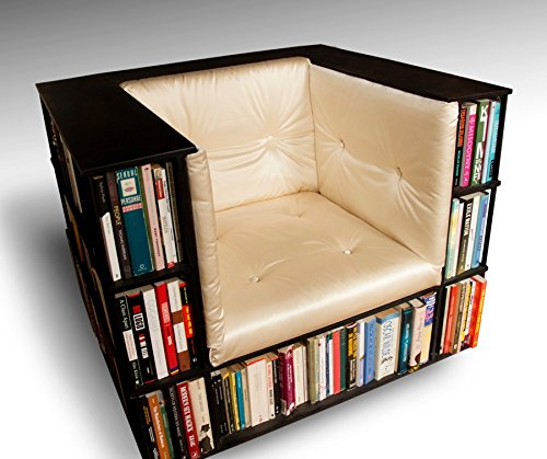 Gentleman's Luxury Library Bookcase Chair in Champagne - Made to Order
