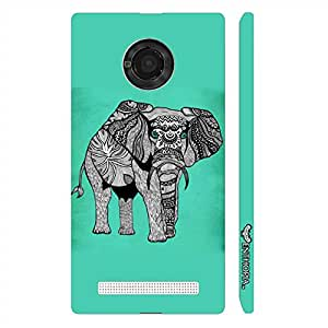Micromax Yu Yuphoria Aztec Giant designer mobile hard shell case by Enthopia