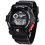 Shot-in Sports Calendar Waterproof Men Led Digital Electronic Wrist Watch Male - Black - 9.06x1.65x1.61
