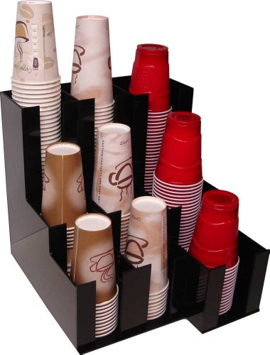 Cup Dispenser for beverage Soda Cups, Coffee Cups and Lids Organizer for Coffee Counters and Breakroom (10076) (Fountain Drink Cup Dispenser compare prices)