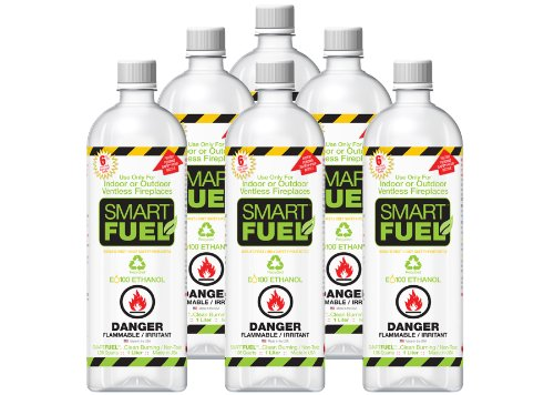 Cheapest Prices! SMARTFUEL Pourable Liquid Bio-Ethanol Fuel for Ventless Fireplaces : 1/2 Case (6 li...