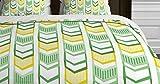 DENY Designs Heather Dutton Right Direction Lemon Lime Duvet Cover, Queen
