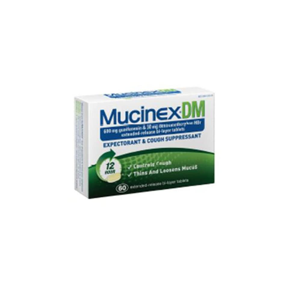 Mucinex Reg Strength DM Tablets, 60 Count Health on PopScreen