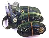 4x Ratschenspanngurt Spanngurt mit Ratsche 6 Meter EN Norm Farbe: Bundeswehr oliv