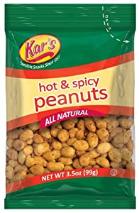 Kar's Nuts Hot & Spicy Peanuts 3.5-Ounce Bags (Box of 42 bags) from Kar's Nut