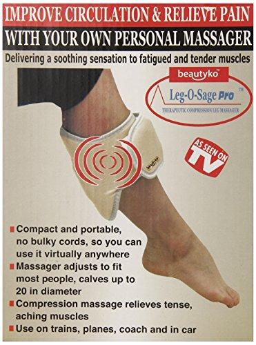 Beautyko Leg-O-Sage Elite Therapeutic Pulse Massager, Brown