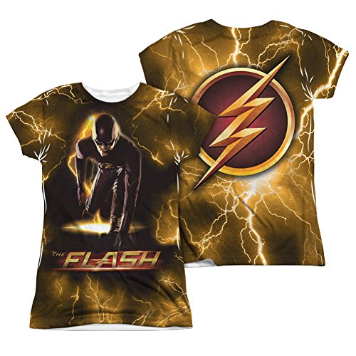 Sublimation Front/Back Junior Fit Bolt The Flash T-Shirt