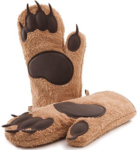 Guanti di design a zampa d'orso, guanti da forno e fornello, lunghi, guanti da cucina, guanti per teglie e pirofile, 1 paio, IL REGALO DI NATALE!