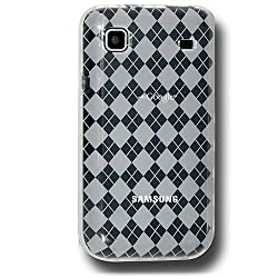 Amzer AMZ88794 Luxe Argyle Skin Case Clear for Samsung Galaxy S I9000