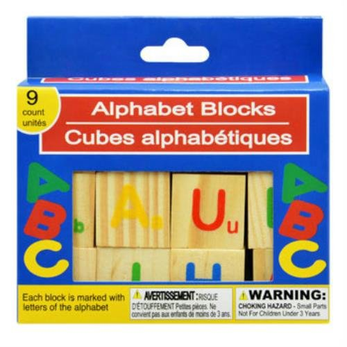 9 Count Wooden Alphabet Blocks - 1