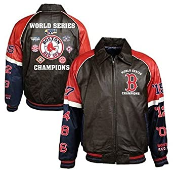 Boston Red Sox 7x World Series Champions Leather Jacket by G-III Sports