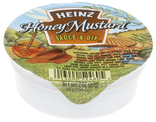 Buy Heinz Honey Mustard Sauce, 1-Ounce Dipping Cups (Pack of 100) (Heinz, Health & Personal Care, Products, Food & Snacks, Condiments Sauces & Spreads, Sauces)