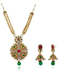 Sia Art Jewellery Gold Plated Jewellery Set For Women (Golden) (AZ2867)